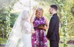 Cassie and Brenton at The Observatory Croydon Garden Wedding